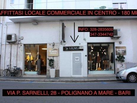Affittasi locale commerciale centro di Polignano a mare, Bari
